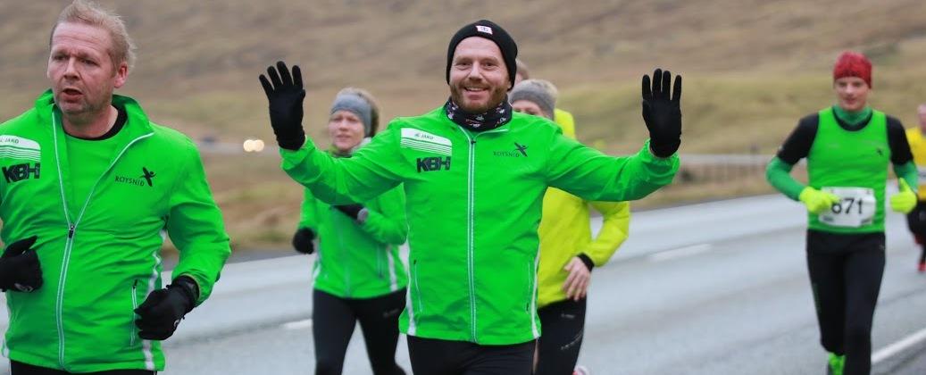 Nýggjárshálvmarathon: 65 á mál